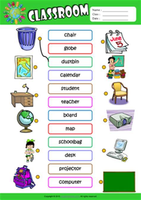 Classroom Esl Printable Worksheets For Kids 1