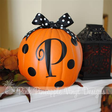 decorated pumpkins photos items similar to diy personalized pumpkin decorating custom letter and polka dot decal kit on etsy