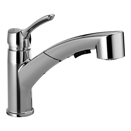 Delta Kitchen Faucets Warranty by Delta 4140 Dst Chrome Collins Pull Out Spray Kitchen