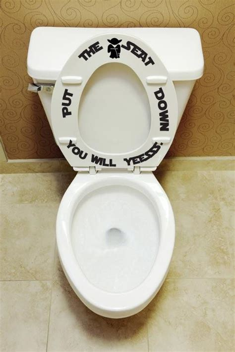 Novelty Bathroom Pictures by Put The Seat Yesssss Toilet Seat Decals Bathroom