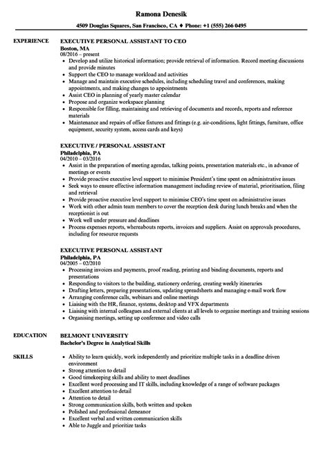 Personal Assistant Objectives Exles by Calimadufaux Page 68 Object In Resume Objective For