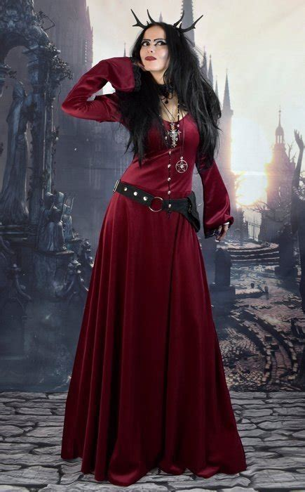 moonshadow gofficeia dress steamed velvet witchy goth