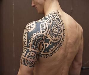 Classic Black Tribal Half Sleeve Tattoo For Men | Tattoo ...