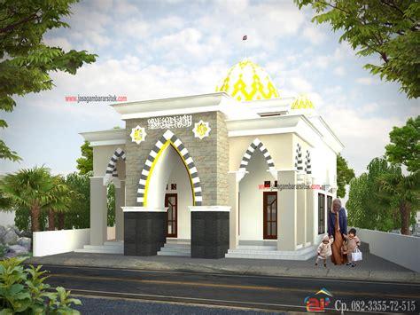 masjid minimalis  layanan jasa gambar arsitek