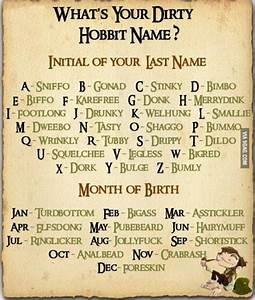 your dirty hobbit name funny dirty adult jokes memes amp ...