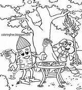 Coloring Grill Printable Firework Pages Rocket Cartoon Sky Pyrotechnics Bbq Funny Getcolorings Adults Lets Colorings Drawing Liberty Exploding sketch template