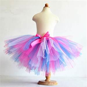 Tuto Tutu Tulle : buy hot sale summer fluffy 3 layer girls rainbow tutu skirts baby kids tulle ~ Dode.kayakingforconservation.com Idées de Décoration