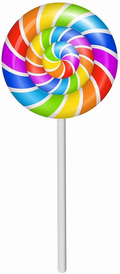Lollipop Clipart Clip Colorful Cartoon Transparent Sweets