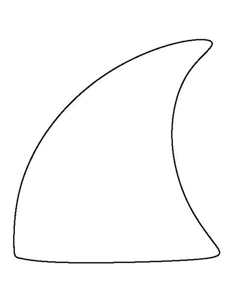 shark fin pattern   printable outline  crafts