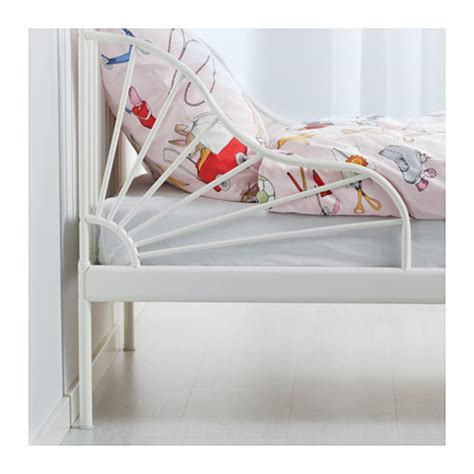 minnen ext bed frame with slatted bed base white 80x200 cm