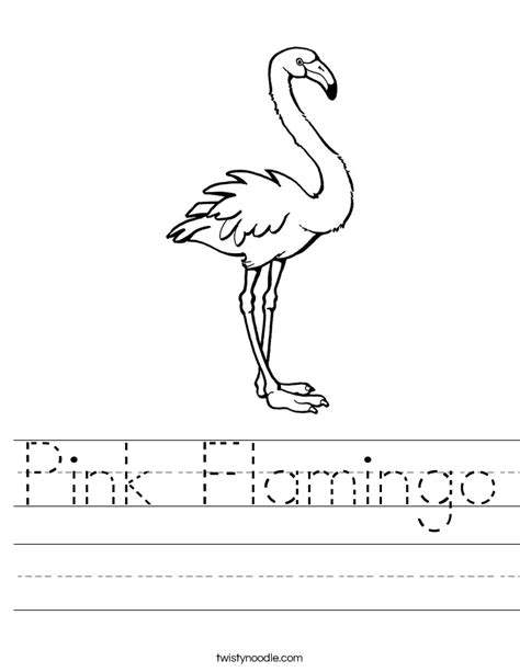 pink flamingo worksheet twisty noodle