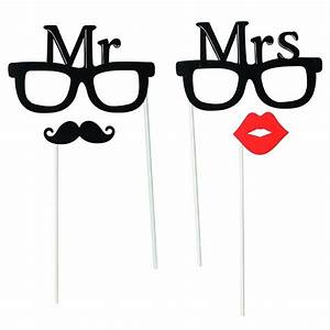 Mr And Mrs Photo Booth Props - Wedding Accessories Jolly