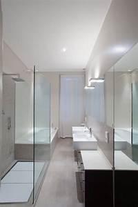 Ideen Für Badezimmergestaltung : schmales badezimmer minimalistisches design dusche badewanne bad wc pinterest schmales ~ Sanjose-hotels-ca.com Haus und Dekorationen
