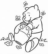 Honey Coloring Clipart Pooh Winnie Webstockreview Getting sketch template