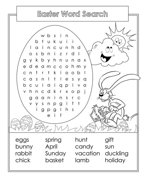 free printable word searches for kids easter wordsearch for printable kiddo shelter 21889 | easter wordsearch for kids fun