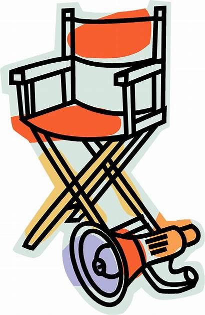 Director Drama Clipart Clip Chair Symbols Directors