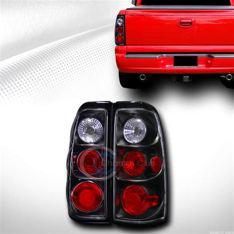 chevy truck tail lights blk housing altezza tail lights brake lamps l r 2003 2006