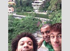 Com Marcelo e Lucas, Neymar posta foto antes da final