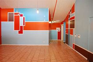 Wall design ideas abstract full color rukle paint colors for Home interior design schools 2