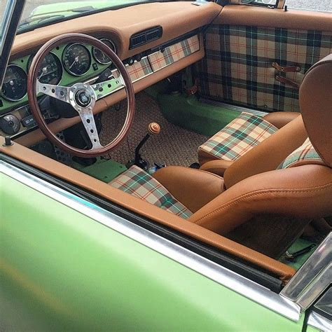 vintage plaid  hounds tooth auto upholstery