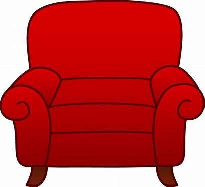Chair Cartoon Armchair Clipart Clip Couch Sofa