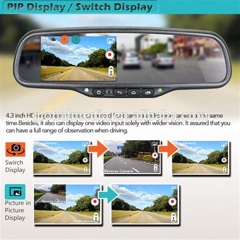 Android Rearview Mirror Type Gps Bluetooth Wifi Car Mirror