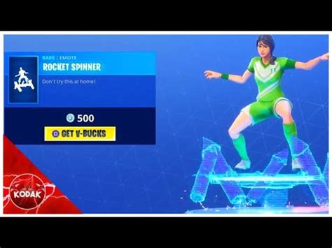 rocket spinner fortnite item shop july  kodak wk