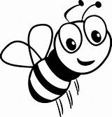Bee Coloring Cartoon Smile Pages Honey Bees Bumble Printable Sheets Cool Pokemon sketch template