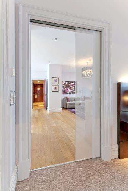 papier peint chambre moderne porte verre coulissante à galandage luce extension