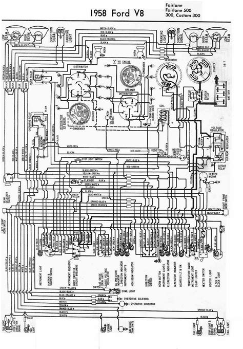 1955 Thunderbird Overdrive Wiring Diagram by Electrical Wiring Diagram For 1958 Ford V8 All About