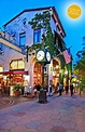 Date on state! Downtown State Street in Santa Barbara, as ...