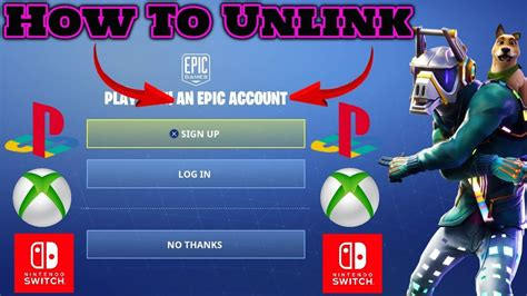 unlink epic games account ps xbox switch nov