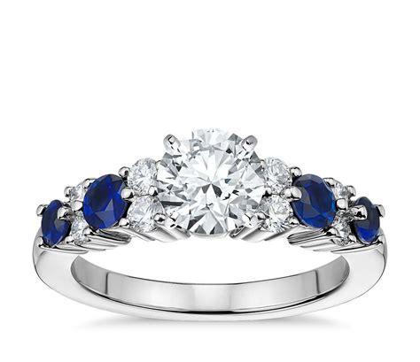 garland sapphire  diamond engagement ring  platinum