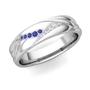 mens sapphire wedding bands create unique wedding band ring for with gemstones and diamonds