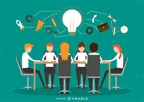 trabajo en equipo de oficina ilustraci 243 n de trabajo en equipo de oficina descargar vector