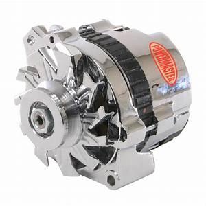Powermaster Alternator 140 Amp Internal Regulator Polished V