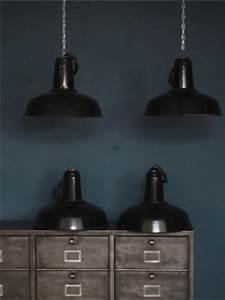 Suspension Industrielle Noire : suspension gamelle abat jour emaillee noir lampe industrielle ~ Teatrodelosmanantiales.com Idées de Décoration