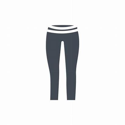 Pants Silhouette Yoga Vector Leggings Leggins Icon