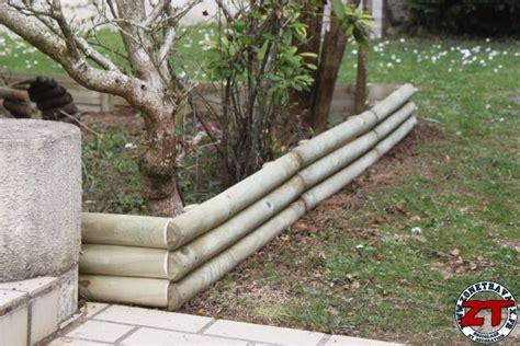 bordures de jardin en bois tuto installer des bordures de jardin