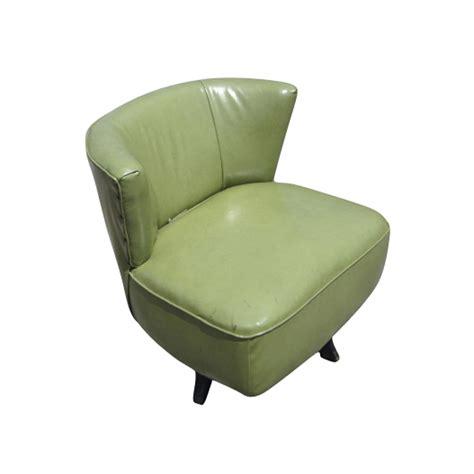 mid century modern green swivel slipper chairs ebay