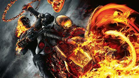 Ghost Rider Spirit Of Vengeance Dark Fire Skull Skulls