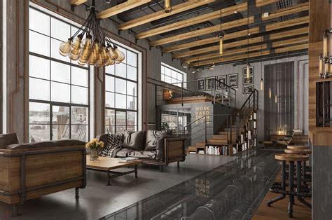 Industrial Loft by Uk Industrial Loft Designed By Romas Noreika 2016