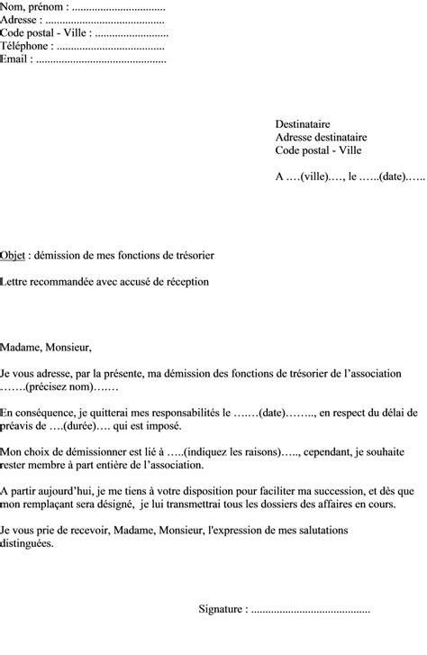 bureau d une association mod 232 le lettre de d 233 mission bureau association exemple