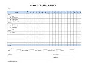 Cleaning Checklist Templates Word