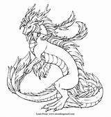 Coloring Dragon Realistic Pages Adults sketch template