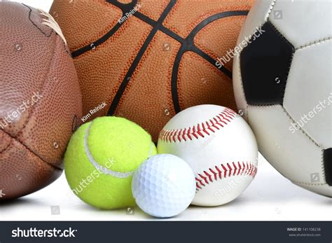 Balls Images White Background by Sports Balls On White Background Stock Photo 141108238
