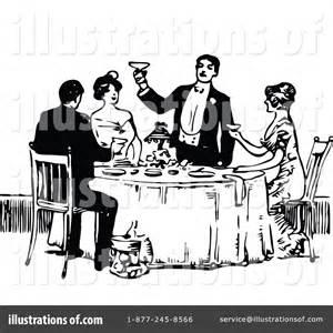 Vintage Fine Dining Clip Art Free