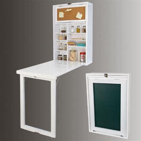 bureau pliable mur sobuy fwt08 w armoire murale avec table pliable intégrée