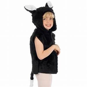 Children's Kids Boys Girls Black Fur Cat Tabard Fancy ...