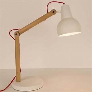 Lampe A Poser Pas Cher : lampe poser bois m tal study couleur blanc achat vente ~ Teatrodelosmanantiales.com Idées de Décoration